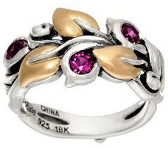 sterling gem rings images Barbara bixby sterling 18k semi precious gemstone vine ring 001