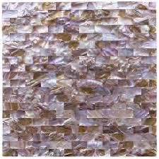 mini brick natural pearl tile for kitchen wall backsplash 9 7 sq ft