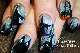 30 creative diy halloween nail art designs that are easy to do coven witches black and white halloween dark scary cauldron 281 29 jpg