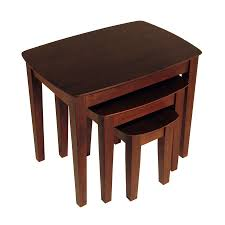 Wood Accent Table Shop Winsome Wood 3 Piece Antique Walnut Accent Table Set At Lowes Com