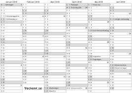 Kalender 2018 Helgdagar Kalender För 2018 Med Helgdagar Och Veckonummer Almanacka
