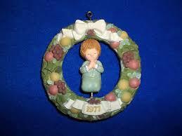 vintage 1977 hallmark twirl about ornaments set of 2