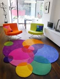 Orange Modern Rugs Bubbles Square Contemporary Modern Area Rugs By Sonya Winner