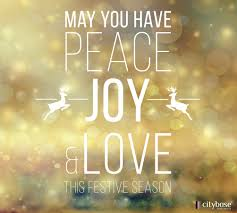 may you have peace joy and love this festive season festive