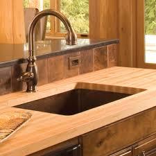 Copper Kitchen Sink by Simple Copper Sink In Butcherblock Counter Copper Tiles Copper