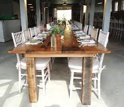 farmhouse style dining table and chairs with unique wooden long