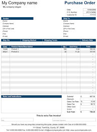 Free Purchase Order Template Excel Purchase Order Purchase Order Template For Excel