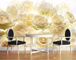 photo customize size 3d romantic white yellow rose mechanism photo customize size 3d romantic white yellow rose mechanism effect mural tv wall free 3d wallpaper free 3d wallpapers from catherine198809100