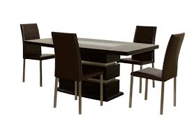 set of 4 dining chairs urban glass table and four chair dining set
