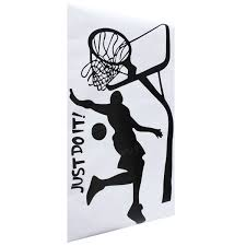 just do it basketball wall decal diy removable sports home room