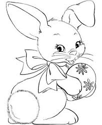easter bunny coloring pages bluebonkers cute easter bunny with
