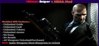 hitman apk hitman sniper apk v1 7 102079 mega mod for android