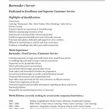 Best Resume Format For Entry Level by Bartending Resume Template Entry Level Bartender Resume Bartender