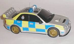 remote control police car with lights and siren scalextric cars c3068 subaru impreza police car