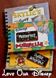 personalized autograph books make your own personalized disney autograph books wdw hints