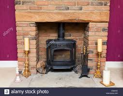 wood burning stove in a fireplace stock photo royalty free image