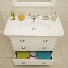 Valencia Bathroom Furniture Valencia White 900mm 3 Drawer Vanity Unit Small Bathroom Storage