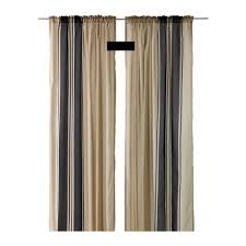 Ikea Beige Curtains Ikea Bjornloka Curtains Drapes Beige Black Stripes Bj纐rnloka