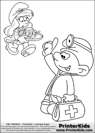 doctor supplies coloring page