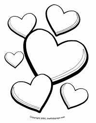 printable heart coloring pages free coloring printable heart