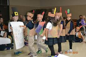 preschool and 1st grade thanksgiving play and feast