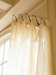 Curtains For Windows With Arches Genius Idea For Shaped Sized Windows Hooks Instead Of A Rod