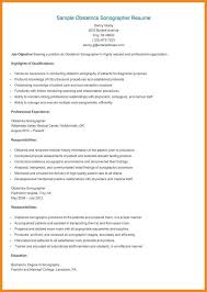 Ultrasound Resume Examples by Sonographer Resume Samples Resume For Your Job Application