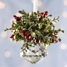christmas mistletoe christmas mistletoe hanging acrylic faceted