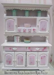 dollhouse furniture kitchen miniature dollhouse shabby chic dining room kitchen hutch with