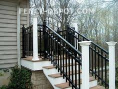 mounted on side of steps for narrow stair cases exterior hand