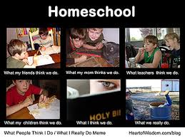 What People Think Meme - what people think about homeschooling meme heart of wisdom