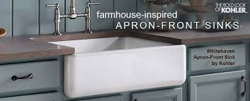 Kohler ApronFront Farmhouse Inspired Whitehaven Collection - Apron kitchen sinks