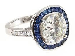 platinum halo engagement rings sapphire halo platinum engagement ring for sale at 1stdibs