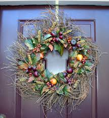 how to make a thanksgiving grapevine wreath