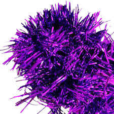 2m 6 5 ft tinsel tree decorations garland n3 purple ebay
