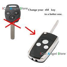 2008 honda accord key 3 button modified flip remote key shell for honda crv fit accord