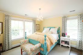 Turquoise Bed Frame Bedroom Curtain Styles With Hung Window And Turquoise Bed