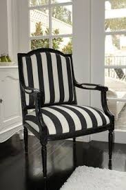 Black And White Striped Chair Gonna Do One Of These Too - Black and white chairs living room