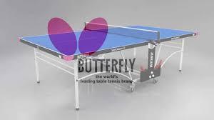 butterfly outdoor rollaway table tennis butterfly spirit 12 outdoor rollaway table tennis table youtube