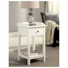 Small White Side Table Furniture Small White End Table With Tray Top Style Design And