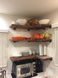 Natural Oak Leaning Shelves With Shelves Fabulous V Corner Shelves Kimber Natural Oak And Ladder
