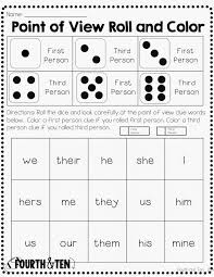 Drawing Conclusions Worksheets 4th Grade Fourth And Ten Point Of View Freebie