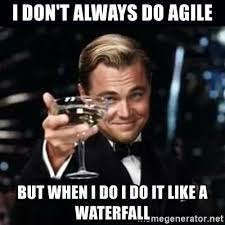 Agile Meme - i don t always do agile but when i do i do it like a waterfall