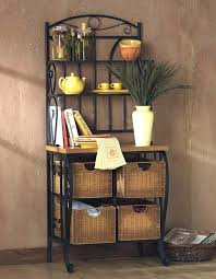 Bakers Rack Wrought Iron Attractive Black Iron Bakers Rack Bakers Racks Wrought Iron Bakers