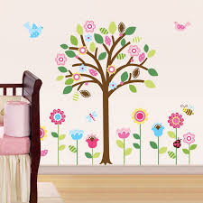 Wall Decor Stickers For Nursery Pretty Pastel Garden Peel Stick Wall