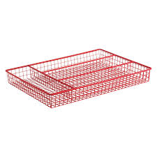 Cutlery Trays Nevin Red Wire Cutlery Tray Buy Now At Habitat Uk