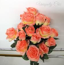 bouquet diy diy wedding bouquet coral rose bush wedding centerpiece peach