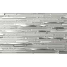Brushed Stainless Steel Backsplash by The Smooth Combination Of Polished White Marble Brushed Stainless