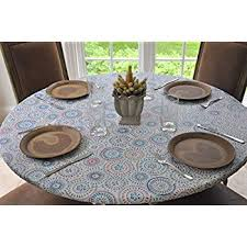 vinyl elasticized table cover amazon com original elasticized vinyl table cover tablecloths