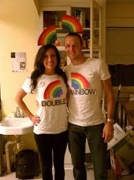 Couples Halloween Costumes Couples Halloween Costume Double Rainbow Video Omg